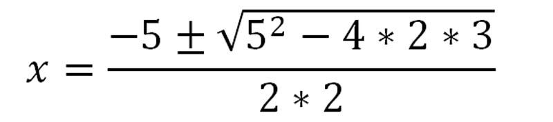 формула квадратного уравнения